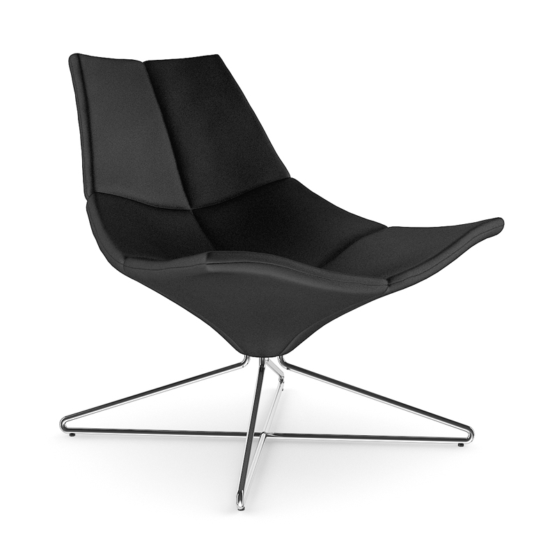 Black_Leather_Swivel_Armchair