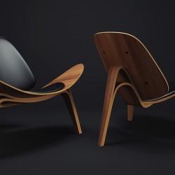 Modelos 3D Gratis II | CH07 Shell Chair