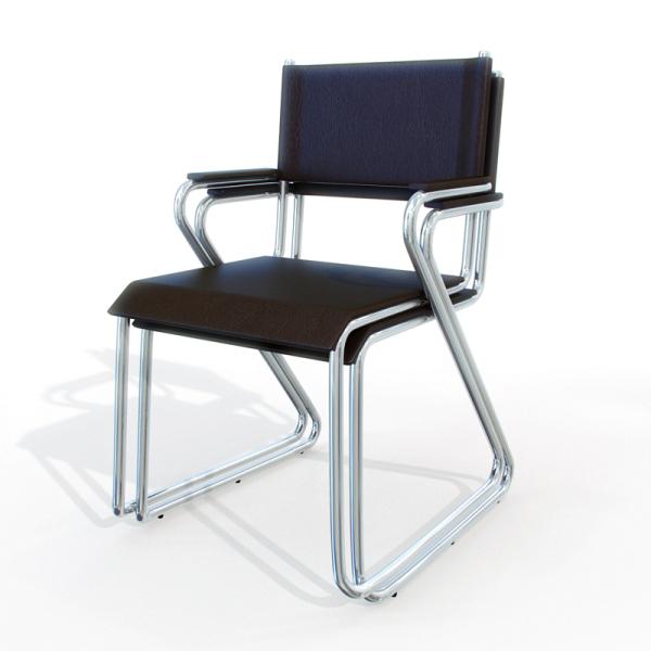 Modelos 3d gratis xvi silla met lica ejezeta for Sillas de cuero para comedor