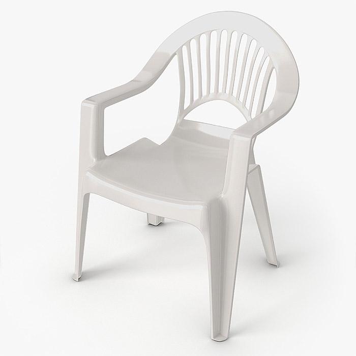 Modelos 3d gratis xxi silla de pl stico ejezeta - Sillas de plastico para terraza ...