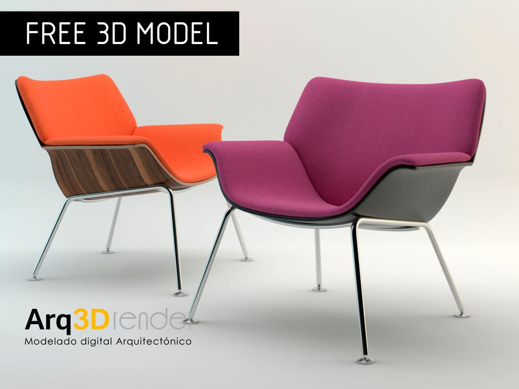 Modelos 3d gratis l swoop lounge chair ejezeta - In december o grijze lounge ...