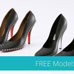 Modelos 3D Gratis LXXVII   Zapatos de Tacón