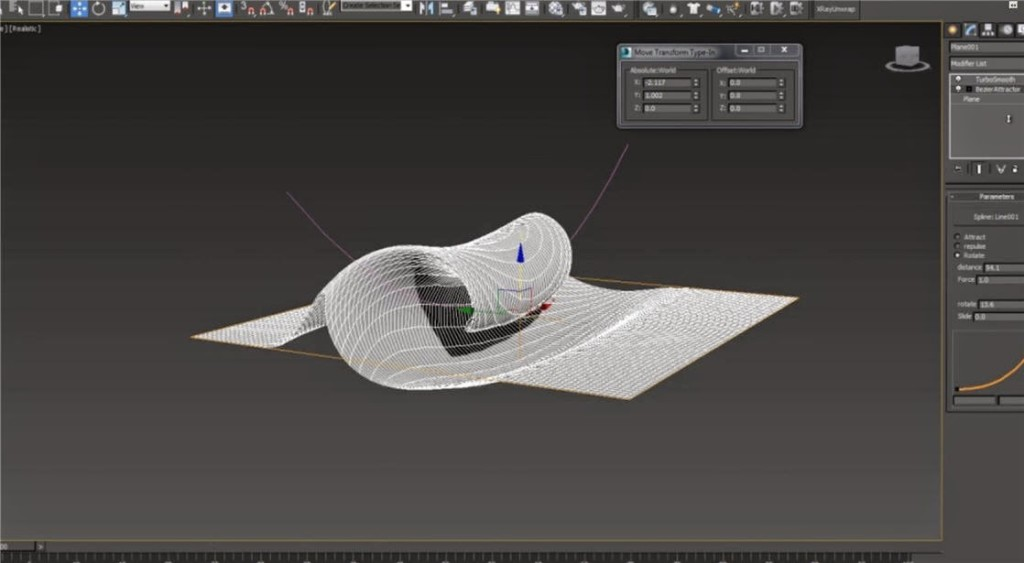 3ds Max script Bezier Attractor