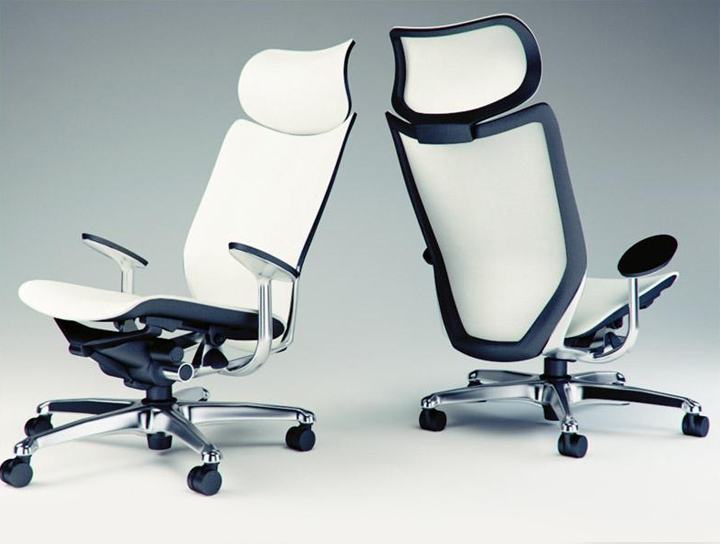 Modelos 3d gratis cix silla de oficina okamura ejezeta for Sillas para oficina office max