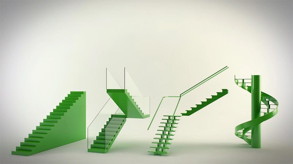 C mo crear escaleras en 3ds max ejezeta for Escaleras 3d max