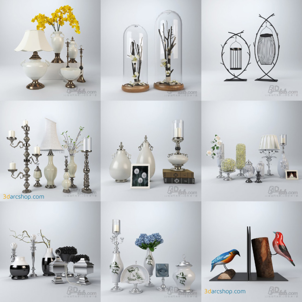 Modelos 3d gratis cxxx objetos decorativos ejezeta - Objetos decorativos ...