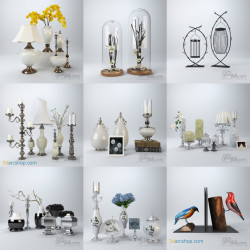 Modelos 3D Gratis CXXX | Objetos Decorativos