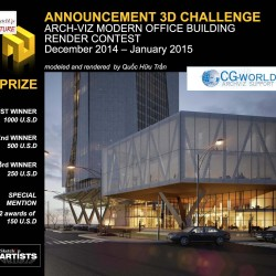 "Concurso | 3D Challenge: ""Modern Office Building"""