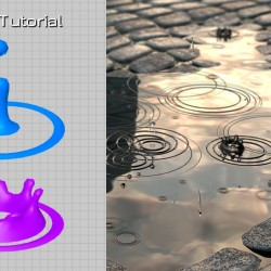 Simulación de lluvia con Particle Flow