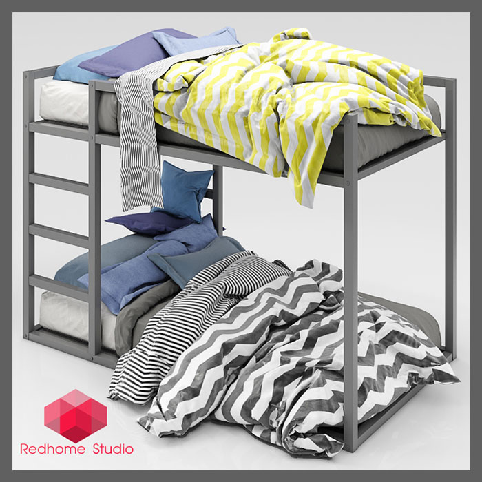 RedHome_Bed_3d_model