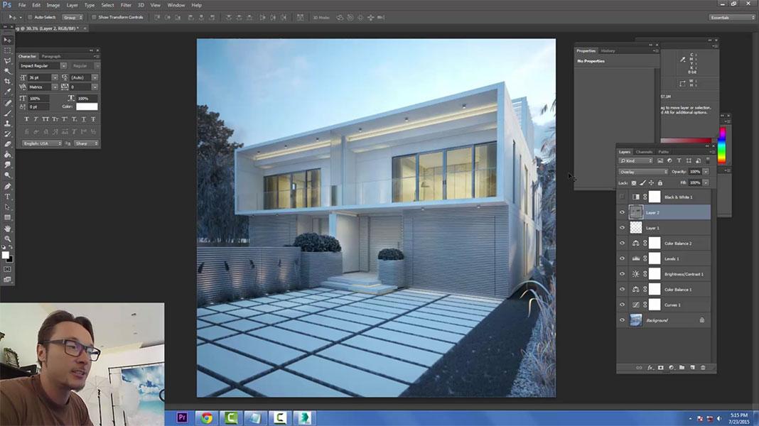 Iluminaciu00f3n y renderizado de exteriores con V-Ray : ejeZeta