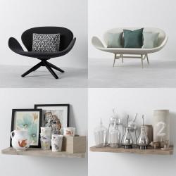 Modelos 3D Gratis CXC | Sillas y Objetos Decorativos