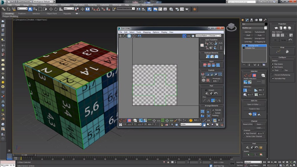 Denis_Keman_UVW_Unwrapping_in_3ds_Max_tutorial
