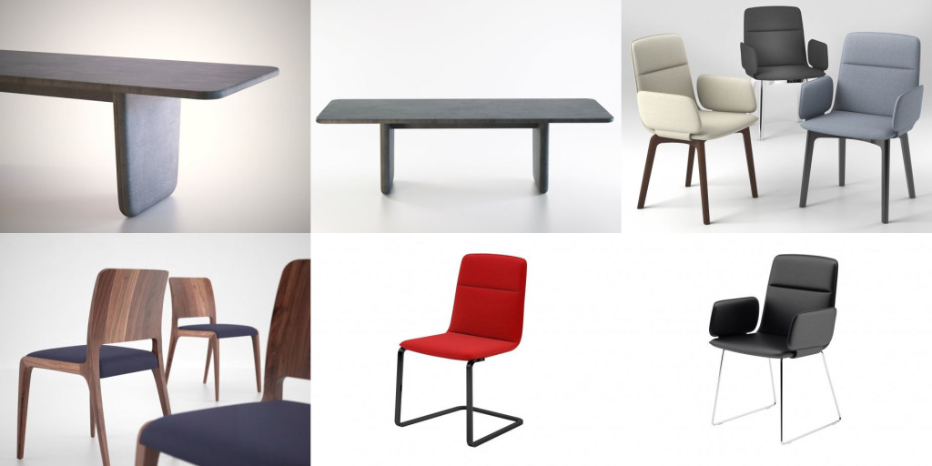 free_3d_models_design_connected_chairs_table