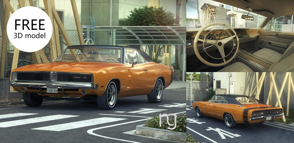 1969_Dodge_Charger_free_3D_model