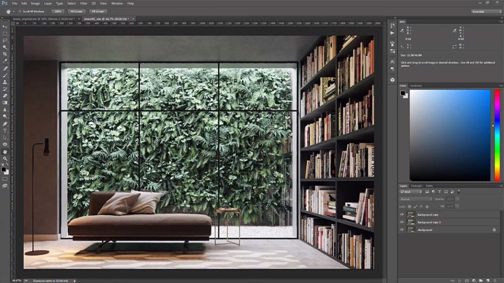 adan_martin_muro_verde_corona_render_tutorial_3d