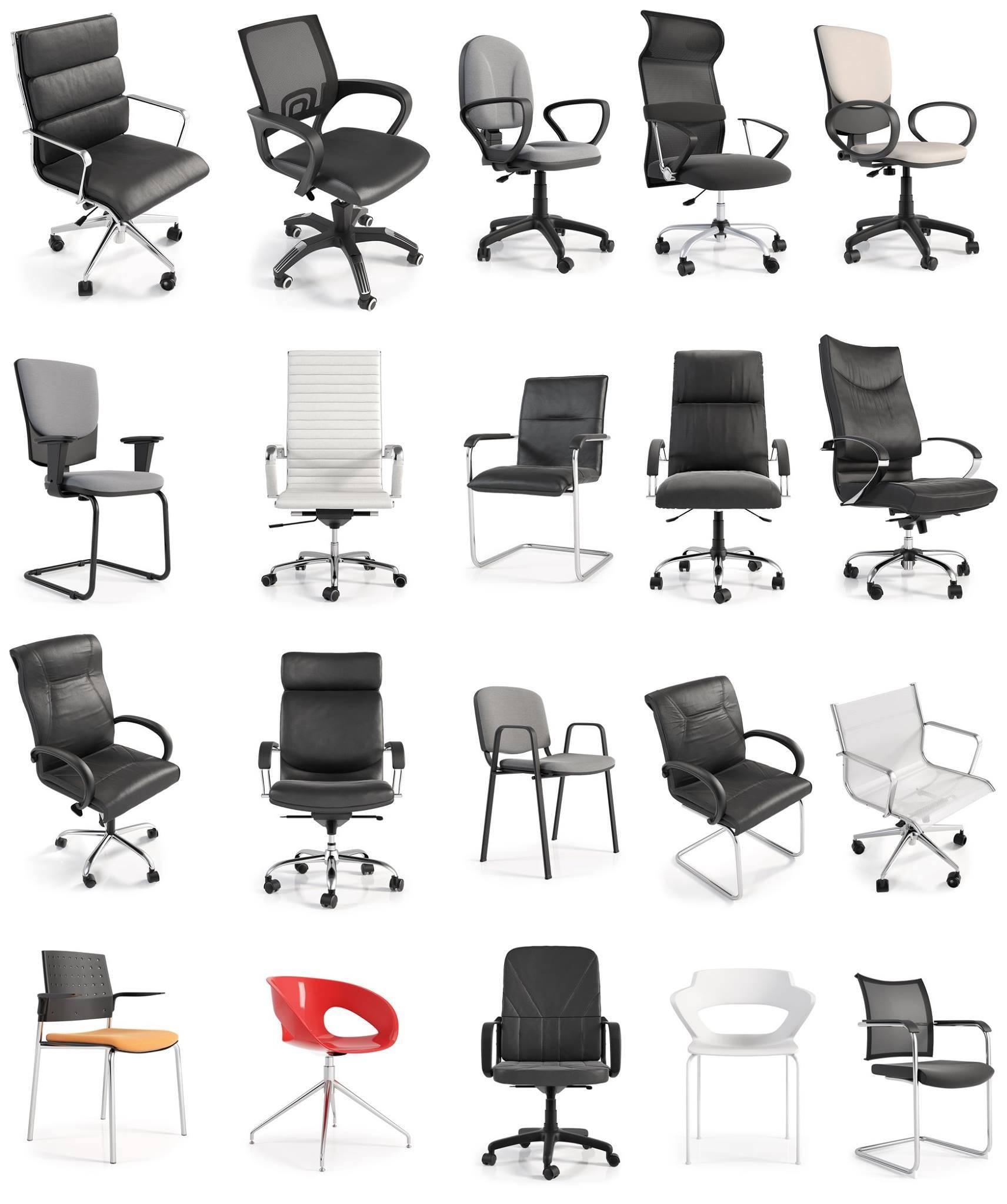 Modelos 3d gratis cclxxx sillas de oficina ejezeta for Sillas para oficina office max