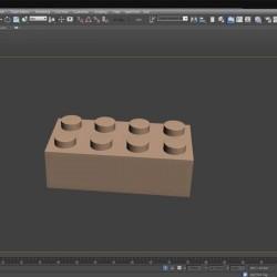 Cómo modelar un bloque de LEGO