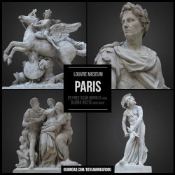 Modelos 3D Gratis CCLXXXIV | 25 Esculturas escaneadas en 3D