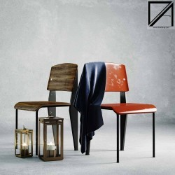 Modelos 3D Gratis CCCXXII | Silla Jean Prouvé