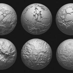 Set de brochas para modelar entornos