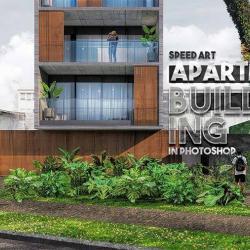 Postproducción en Photoshop para un edificio residencial