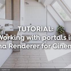Cómo trabajar con portales en Corona para Cinema 4D