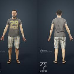 Modelos 3D Gratis DLXXXII   Hombre escaneado en 3D
