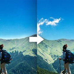 Cómo eliminar halos en cielos