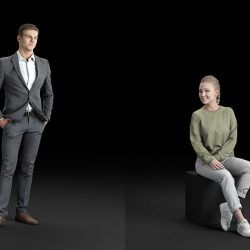Modelos 3D Gratis DXCI | Personas escaneadeas en 3D
