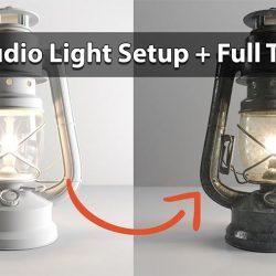 Cómo iluminar y texturizar una lámpara con 3ds Max y Corona