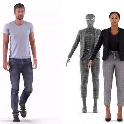 Modelos 3D Gratis DXCII | Personas escaneadeas en 3D