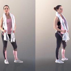 Modelos 3D Gratis DCIV | Mujer escaneada en 3D