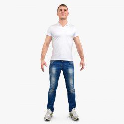 Free 3D Models DCXV | Scanned Man