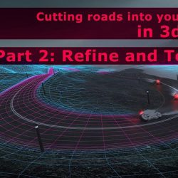 How to map and create textures for roads and terrains in 3ds Max