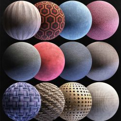 Get 12 PBR fabric materials for free