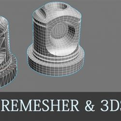 3D Modeling with Quad Remesher and 3ds Max