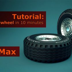 How to quickly model a wheel in 3ds Max