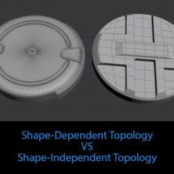 Shape-dependent VS shape-independent topology