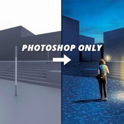 Simulating lighting in post-production with Photoshop