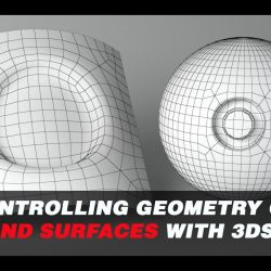 Controlling geometry on curved surfaces with 3ds Max