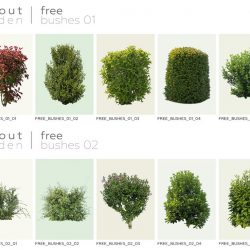 10 Cutouts bushes to download for free