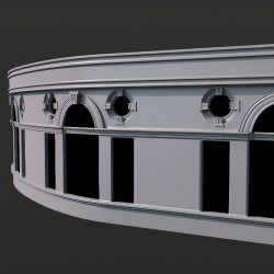 Modeling a curved wall with moldings