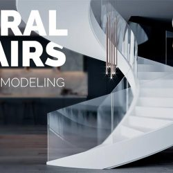 How to model a spiral staircase in 3ds Max