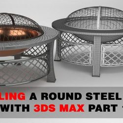 Modeling a round steel fire pit in 3ds Max