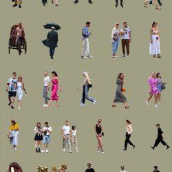 People Cutouts LXXIV