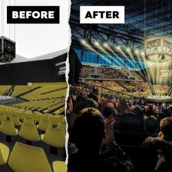 Creating a stadium image using Photoshop