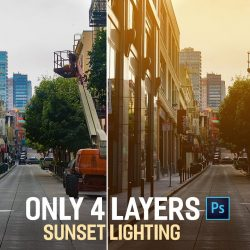 How to simulate sunset lighting in Photoshop
