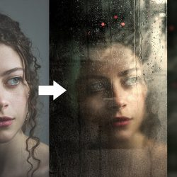 Create realistic wet glass effect in Photoshop