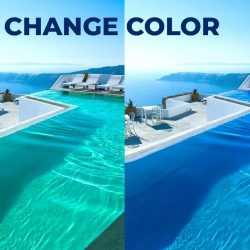 How to easily change water color in Photoshop